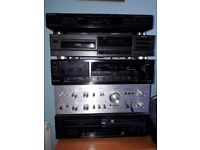Job lot stereo & audio eg Technics SU3500, Denon DP-200USB turntable, Pioneer CD recorder PDR-W739