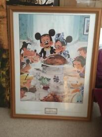 Large Disney Picture Framed Authentic