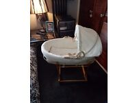 MOTHERCARE MOSES BASKET, STAND AND MOBILE