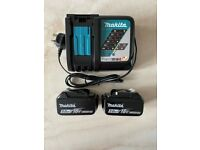 Makita Charger & 2 x 5ah Batteries