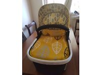 Cosatto travel cot and a carseat