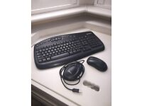 Microsoft Wireless Multimedia Keyboard 1014 Optical Mouse & Receiver