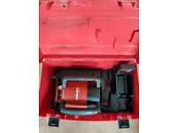 HILTI PR 20 LASER LEVELLING TOOL WITH RECEIVER. GOOD CONDITION.