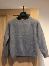 Cashmere grey jumper size 8