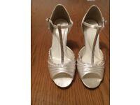 Ivory Embellished Wedding shoes size 4