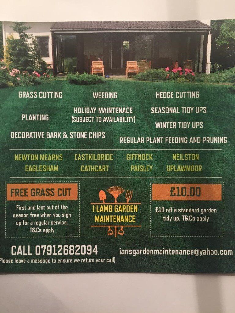 i lamb garden maintenance in southside glasgow gumtree
