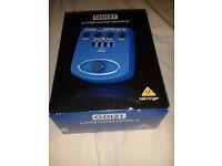 Behringer GDI21 V-Tone guitar amp simulator/distortion/DI pedal