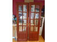 Pure Glass Mahogany French Doors (2 doors)