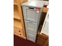 grey bathroom unit - 4 drawers