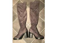 Grey high boots # new size 6
