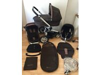 **QUINNY BUZZ Travel System**Carrycot**Maxi cosi Car Seat**Footmuff**Bag**Blanket**XL Seat**EX COND