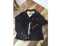 Ladies brown suede jacket size 14