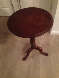 Dark solid wood occasion table
