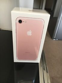 iPhone 7, Gold 32GB Brand New, Boxed Sealed Unlocked with receipt