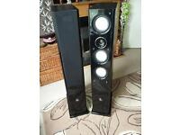 Monitor Audio Floor Standing Speakers suitable for hifi or surround sound system