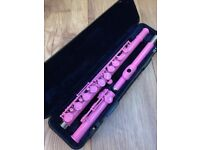 Trevor James Vivace III by Kurioshi Pink Flute - with pink padded carry case