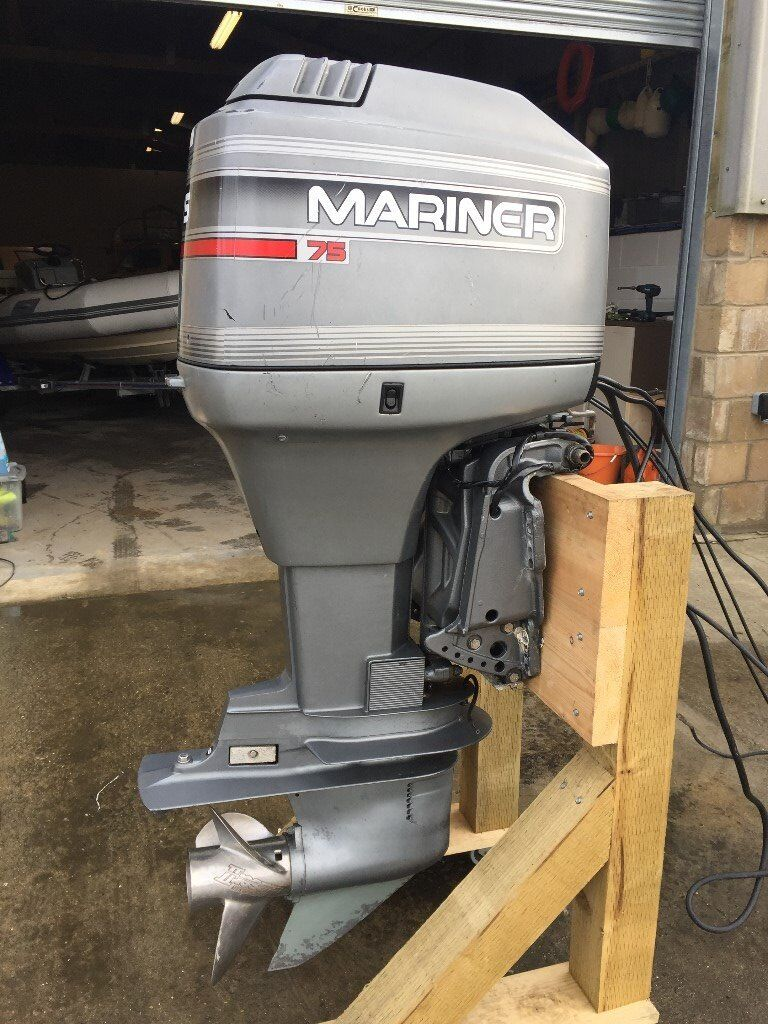 75HP MARINER OUTBOARD BOAT ENGINE PTT OIL INJECTED INCLUDING REMOTES