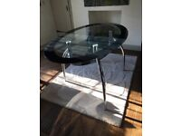 Glass Black Dining Table