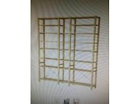 Pine wood Ikea shelving & storage set