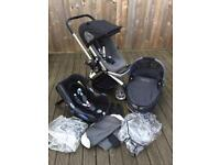 Quincy Buzz pram 3in1 Cabriofix Travel System