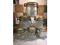 Six Half litre genuine le parfait jars
