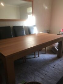 Solid Beech dining table