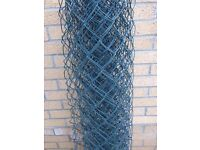 NEW Green PVC Plastic Coated Chain Link Steel Mesh Fencing 1.2m x 7 m