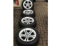 BMW ALLOYS with Goodyear summer tyres 205-55-16