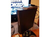 Xbox 360 console and x key
