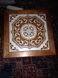 Vintage Danish Teak Style 1960's Tiled coffee table