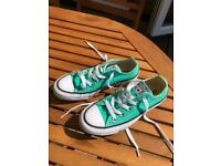 ***REDUCED***Converse All Star Pumps inc. box Green Size 3 Adult