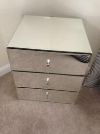 Brand New John Lewis Alexia Glass Bedside Table