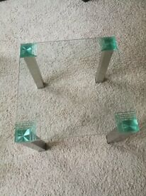 Square Stacked Glass Coffee Table