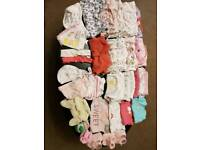 Baby Girl clothes bundle 0-3 m (over 75 items)