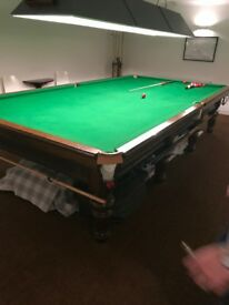Antique full size snooker table