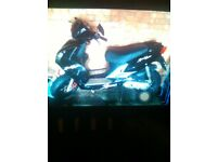 2012 Black 50cc moped spares or repairs