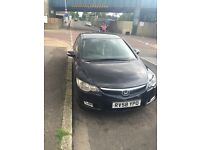 Honda Civic hybrid black automatic
