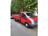Ford transit long mot ex speedy hire with high rear dropsides