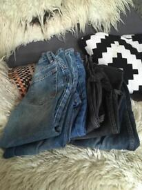 7 pairs of Boys Jeans trousers age 6,7,8 great condition £4 the lot!!!