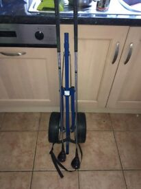 Kingslaw Golf trolley and John letters master 3&5 clubs