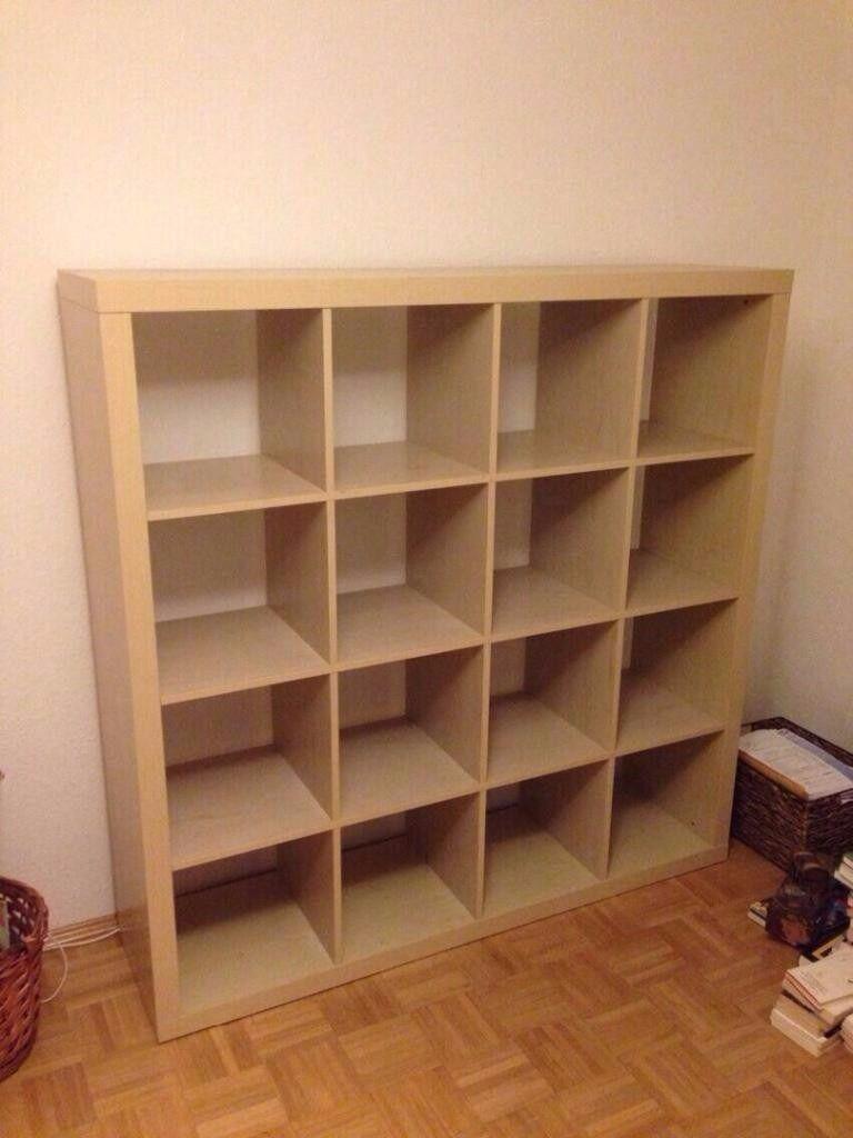 Ikea Expedit Kallax Beech 4 X Bookcase Storage Unit