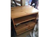 Tv unit / bed side cabinet (solid wood)