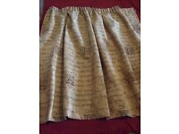 1. Chenille Luxury Gold Curtains Fully Lined (3 pairs)