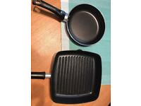 Griddle pan and small Frying pan