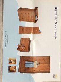John Lewis Regent Pine Nursery Range Solid Wood Furniture. 5 matching pieces in excellent condition
