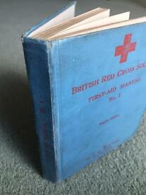 British Red Cross 1939 First Aid Instruction Manaul. Hard cover, 8th Edition.