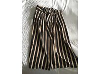 Ladies striped culottes