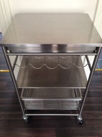 Ikea Storage trolley/unit stainless steel