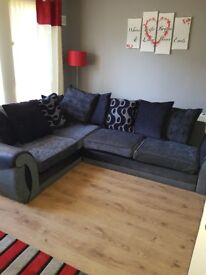 Dfs black and grey sofa