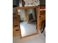 Traditional pine framed mirror